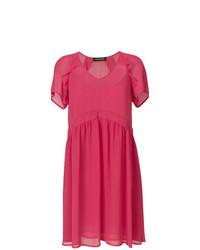 Vestido de vuelo rosa de Twin-Set