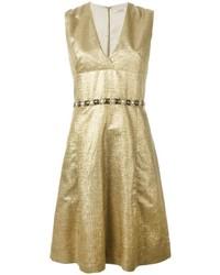 Vestido dorado de Etro