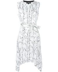 Vestido estampado blanco de Proenza Schouler
