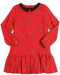 Vestido estampado rojo de Simonetta