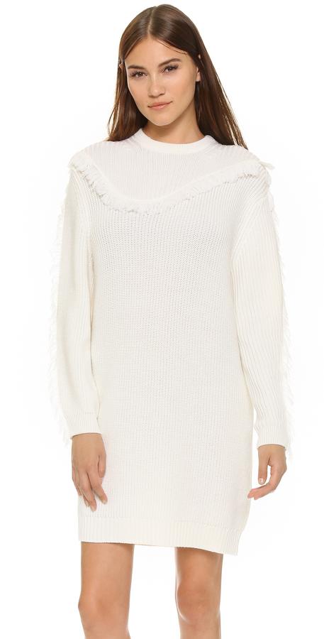 Vestido Jersey Blanco de Kenzo  dónde comprar y cómo combinar 4b668725852b
