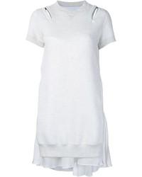 Vestido jersey blanco de Sacai