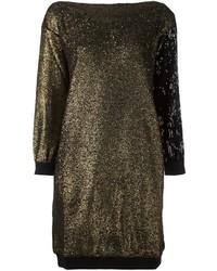 Vestido jersey con adornos dorado de Sonia Rykiel