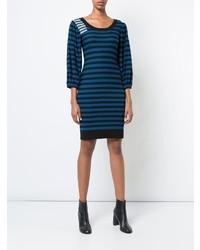 Vestido jersey de rayas horizontales azul marino de Sonia Rykiel