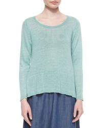 Vestido jersey en verde menta de Eileen Fisher
