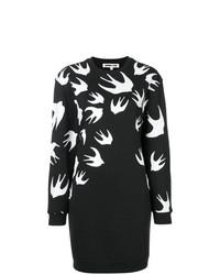 Vestido jersey estampado en negro y blanco de McQ Alexander McQueen