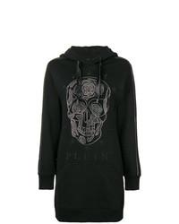 Vestido jersey estampado negro de Philipp Plein