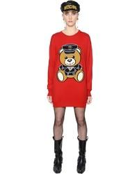 Vestido Jersey Estampado Rojo de Moschino