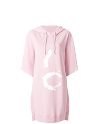 Vestido jersey estampado rosado de MM6 MAISON MARGIELA