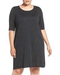 Vestido Jersey Gris Oscuro de Eileen Fisher