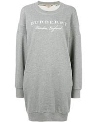 Vestido jersey gris de Burberry