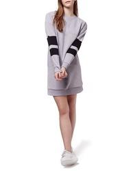 Vestido jersey gris de Topshop