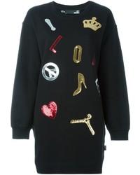 Vestido jersey negro de Love Moschino