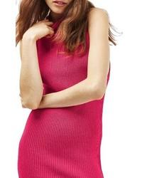 Vestido jersey rosa de Topshop