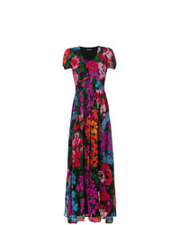 Vestido largo con print de flores en multicolor de Twin-Set