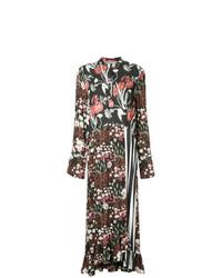 Vestido largo con print de flores negro de Mother of Pearl