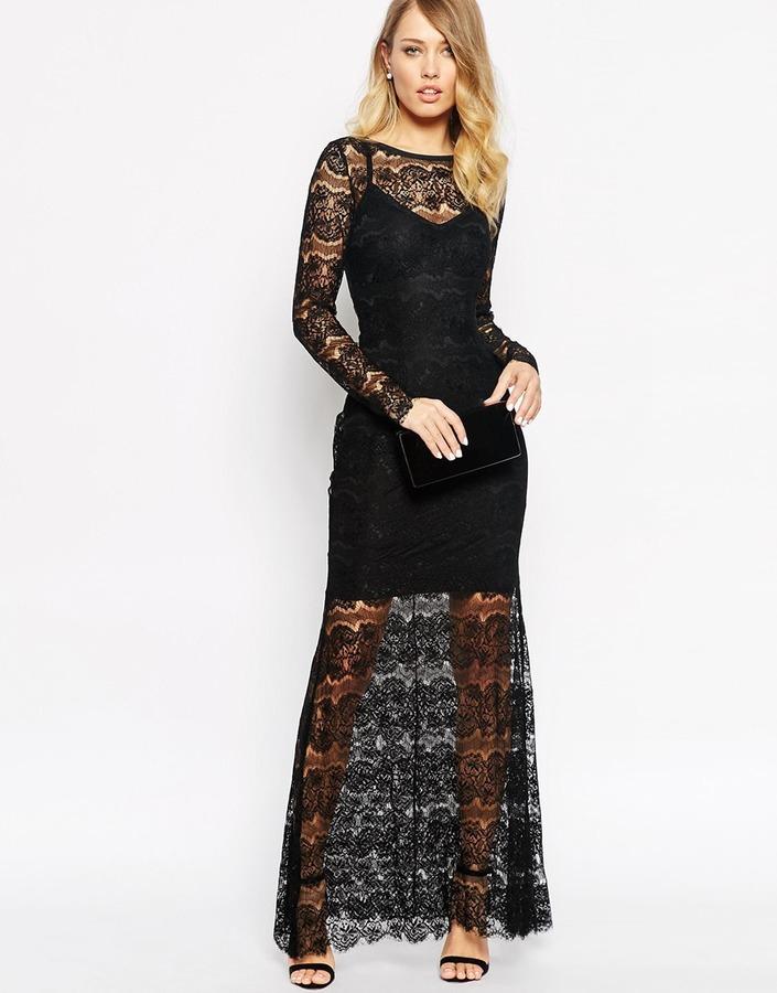 Combinar vestido de encaje negro