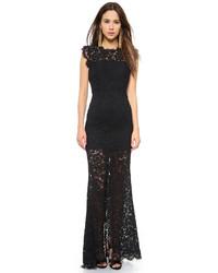 Vestidos encaje negro largo