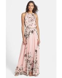 Vestido largo mujer flores