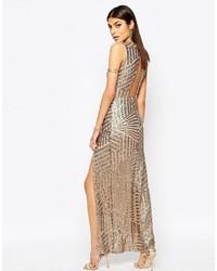 Comprar Un Vestido Largo De Lentejuelas Dorado Elegir