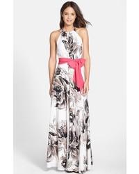 Comprar Un Vestido Largo Estampado En Blanco Y Negro Elegir