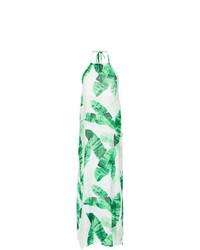 Vestido largo estampado en verde menta de BRIGITTE
