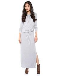 714c59214 Cómo combinar un vestido largo gris (19 looks de moda)