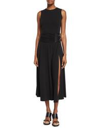 Vestido largo negro de Michael Kors