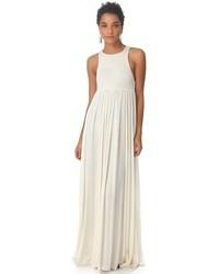 Vestido largo plisado blanco