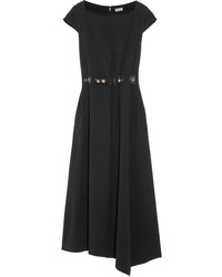 Vestido midi con adornos negro de Loewe