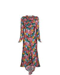 Vestido midi con print de flores en multicolor de ATTICO