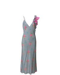 Vestido midi con print de flores gris de Natasha Zinko