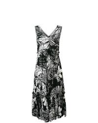 Vestido midi con print de flores negro de See by Chloe
