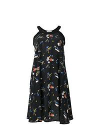 Vestido midi con print de flores negro de Vivetta