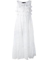 Vestido midi con volante blanco de Love Moschino