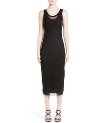 Vestido Midi de Encaje Negro de Fuzzi