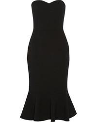 Vestido midi de lana negro de Dolce & Gabbana