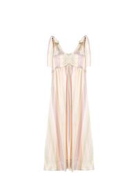 Vestido midi de rayas verticales rosado de See by Chloe