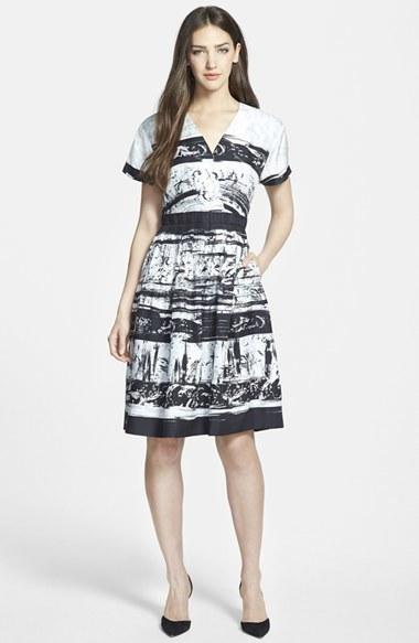 lista nueva otra oportunidad costo moderado Vestido midi estampado en blanco y negro de Classiques Entier