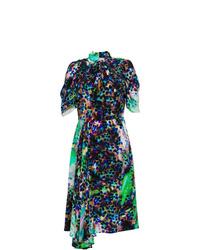 Vestido midi estampado en multicolor de Prada