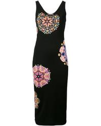 Vestido midi estampado negro de Givenchy
