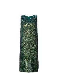 Vestido midi estampado verde oscuro de Maison Margiela