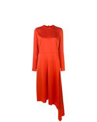 Vestido midi naranja de MSGM