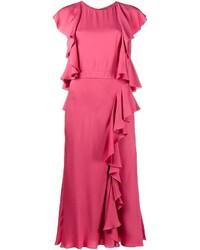 Vestido midi rosa de Alexander McQueen