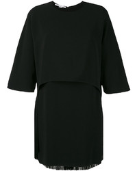 Vestido сon flecos negro de Stella McCartney