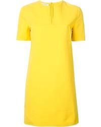 Vestido recto amarillo original 10073256