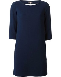 Vestido recto azul marino