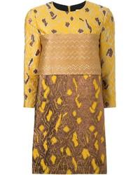 5de1fcab9 Comprar un vestido recto bordado amarillo  elegir vestidos rectos ...