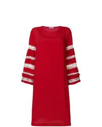 Vestido recto bordado rojo de P.A.R.O.S.H.