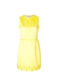 Vestido recto con adornos amarillo de MSGM
